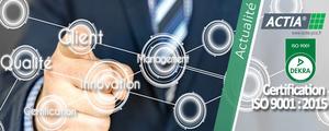 ACTIA PCs renouvelle sa certification ISO 9001 : 2015