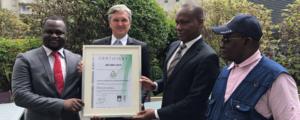 Le contrôle financier de la République du Bénin reçoit le certificat ISO 9001 : 2015