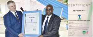 La Société Nationale des Eaux du Bénin (SONEB) est certifiée ISO 9001 : 2015