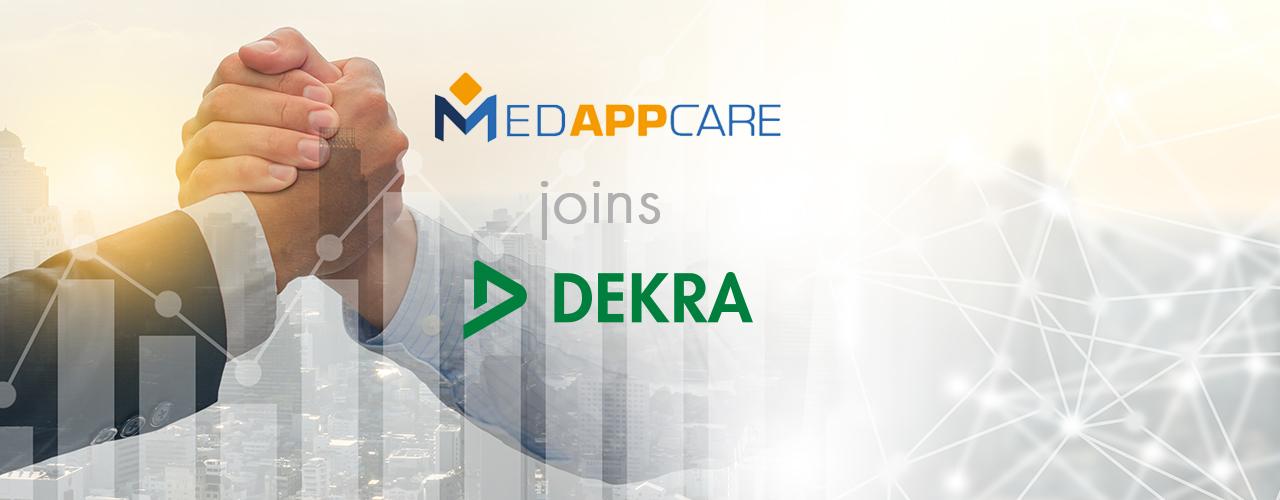 MEDAPPCARE rejoint le Groupe DEKRA